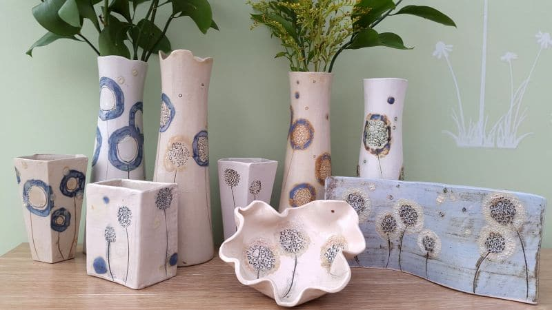 ceramic dandelion designs