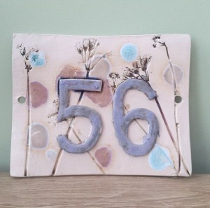 ceramic house number tile