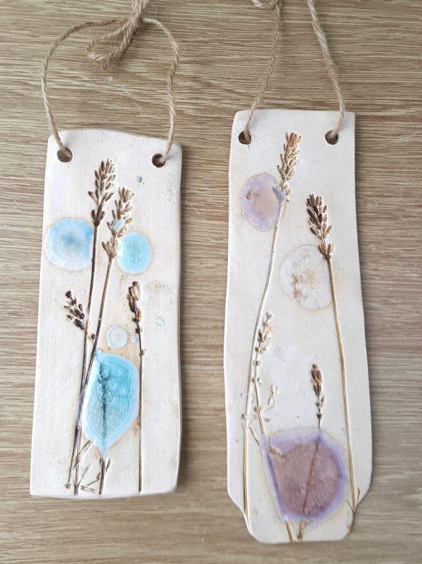 lavender ceramic wall hangings