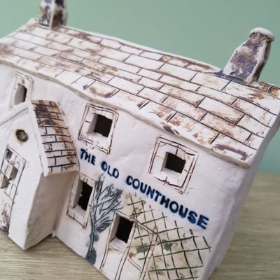 custom made ceramic house