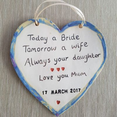 today a bride tomorrow a bride plaque