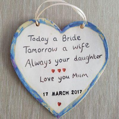 today a bride tomorrow a bride plaque