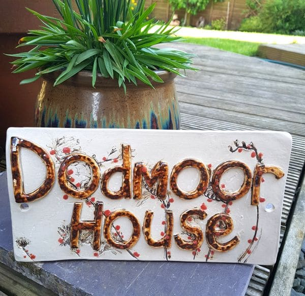 ceramic house name sign