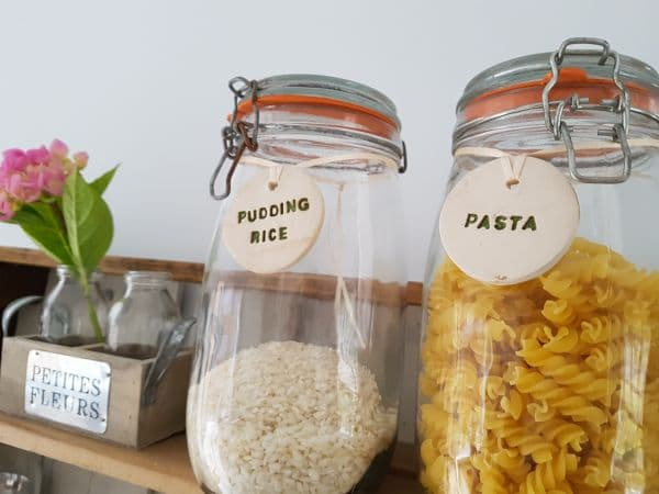 ceramic larder jar tags labels