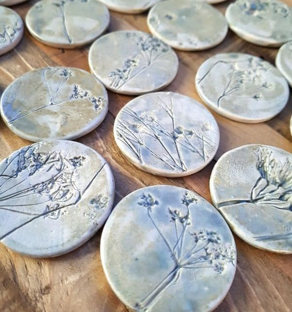 ceramic meadow brooches