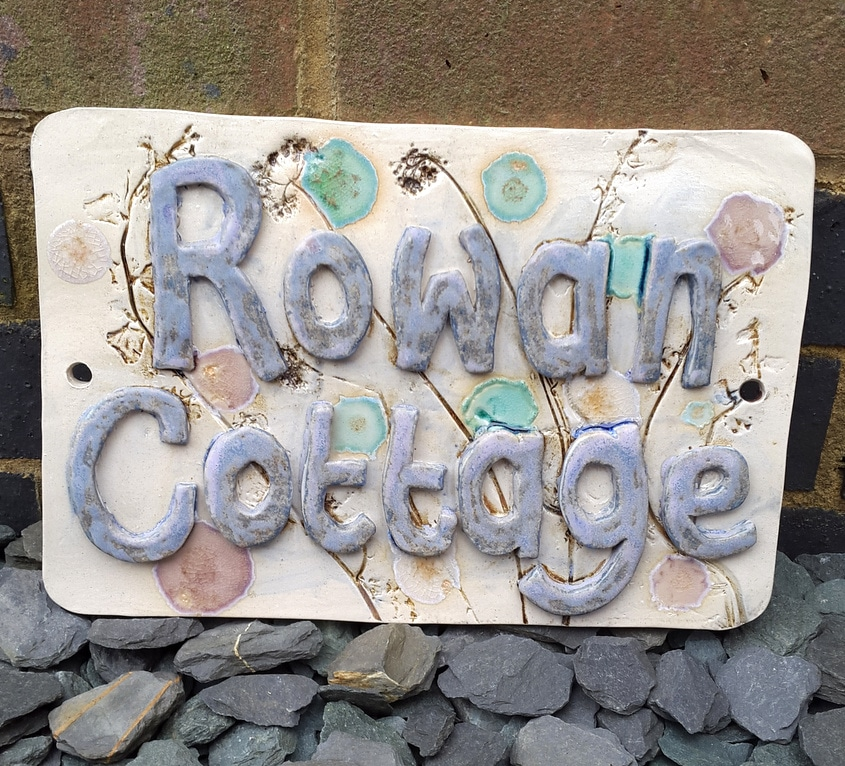 handmade ceramic house name sign