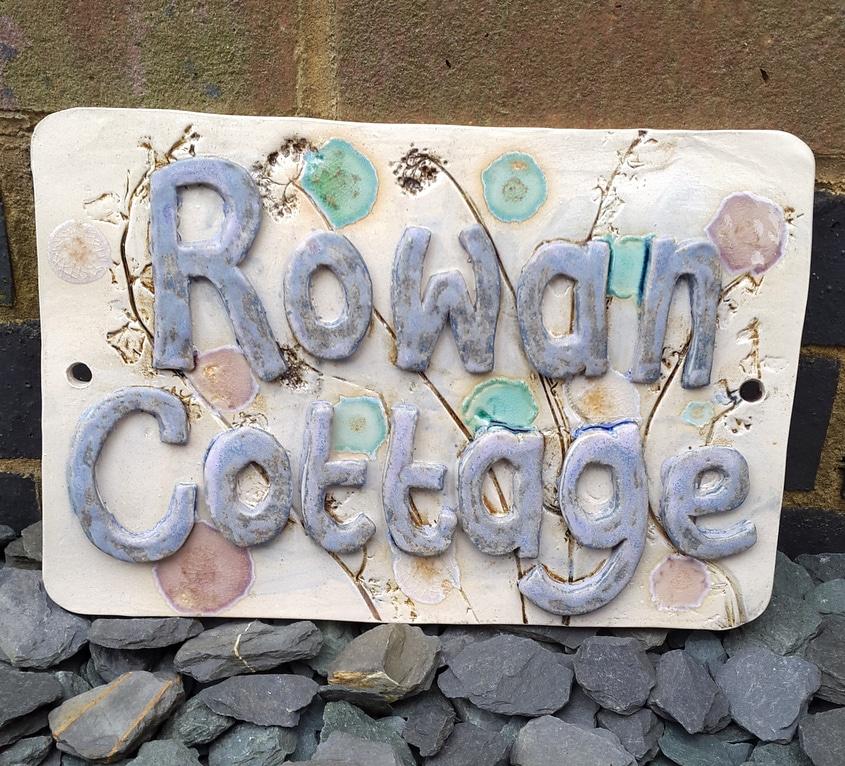 handmade ceramic house name sign