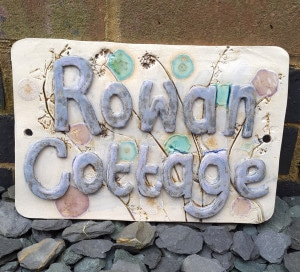 ceramic house name plaque