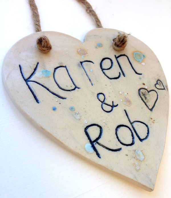 personalised heart plaque