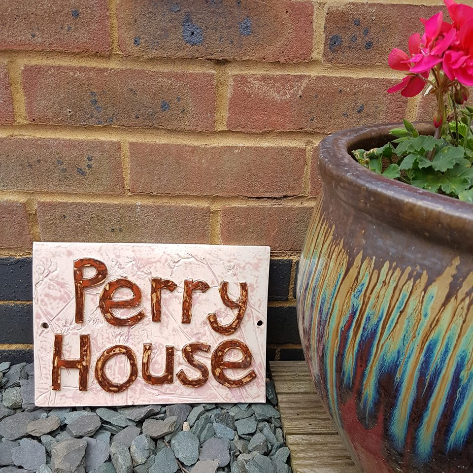 Personalised ceramic house name sign tile charlotte hupfield ceramic house name plaque tile dailygadgetfo Gallery