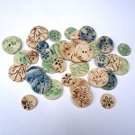 Selection of handmade ceramic buttons