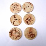 Natural Round Ceramic Buttons