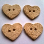 Textured Lace Heart Buttons