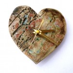 Rustic Heart Clock