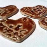 Glossy Brown Heart Buttons
