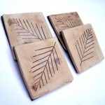 Natural Leaves Ceramic Coasters