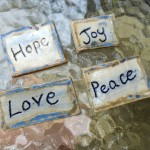 Hope, Joy, Love & Peace ceramic magnets