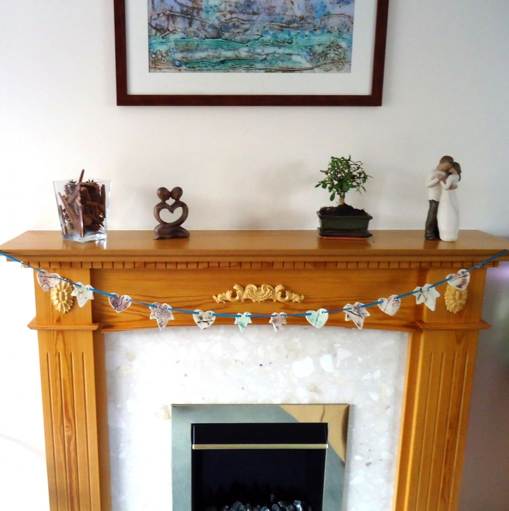 Where to display ceramic bunting - Charlotte Hupfield Ceramics