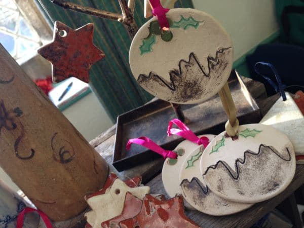 Ceramic Christmas Pudding decorations