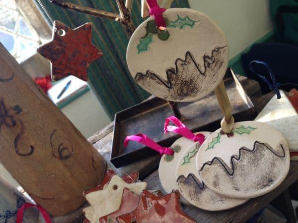 Ceramic Christmas Pudding decorations