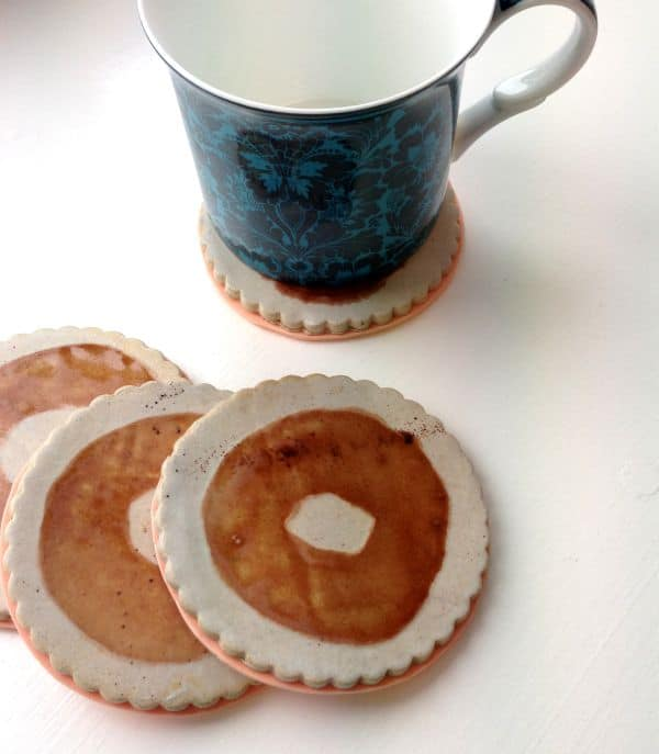 toffee circle coasters
