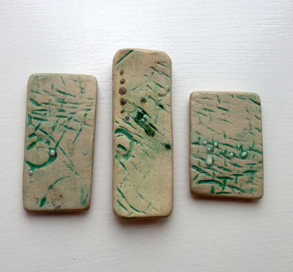 trio of ceramic magnets