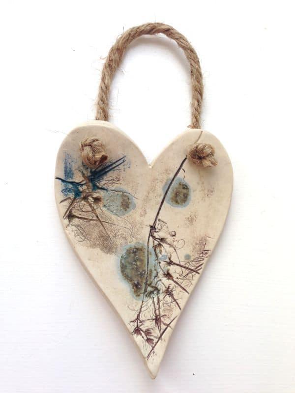 ceramic hanging heart