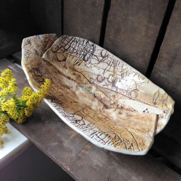 textured sand dunes bowl