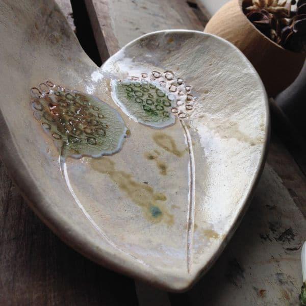 dandelions heart dish