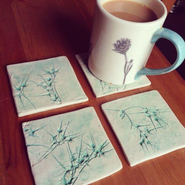 organic ceramic coasters