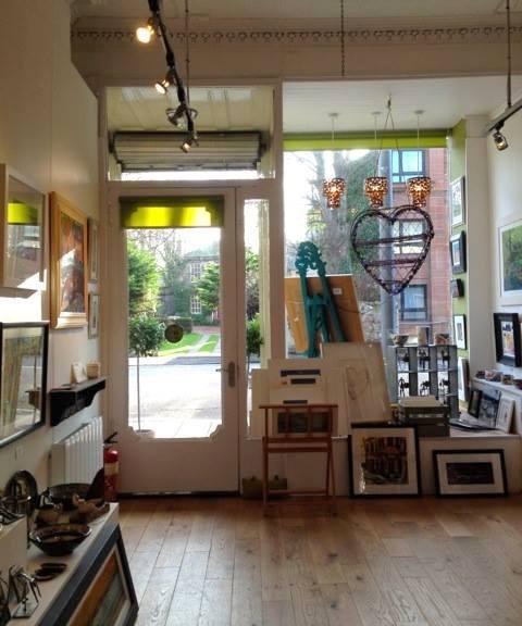 inside Velvet Easel gallery