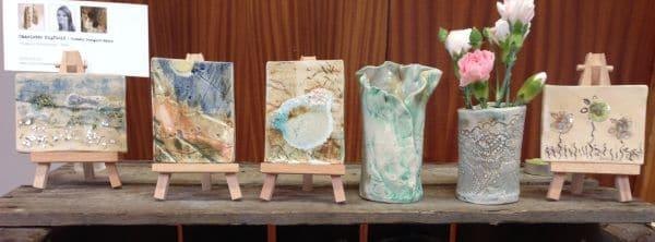 ceramic bud vases and mini ceramic art