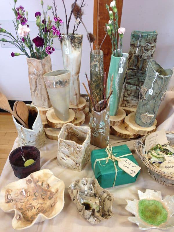 ceramic vase display