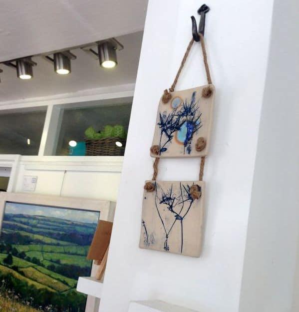 Moonlit Meadow ceramic wall hanging