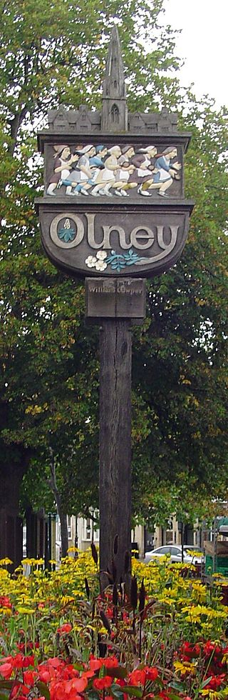 Olney sign post