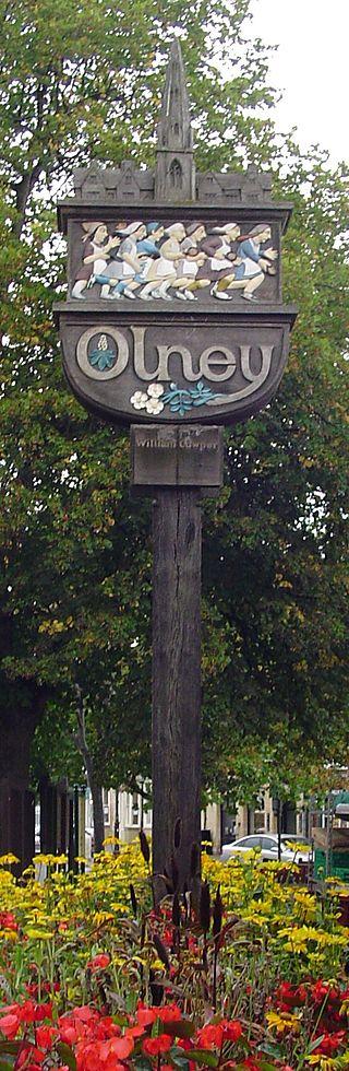 Olney sign post
