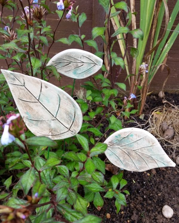 frost proof ceramic leaves