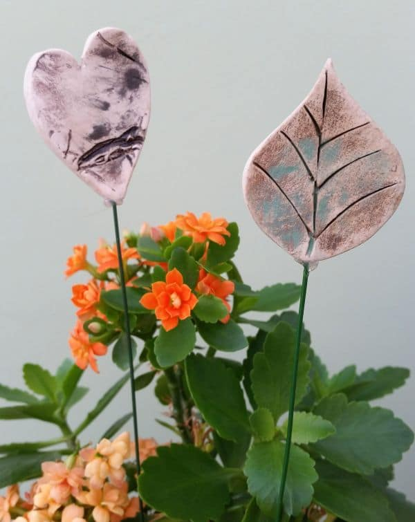 heart and leaf ceramic plant pot decorations