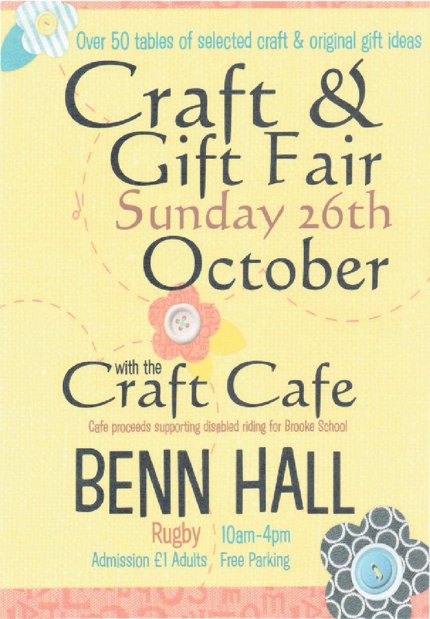 CRAFT AND GIFT FAIR ben hall
