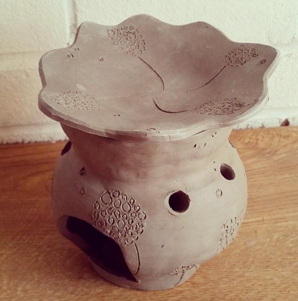 ceramic oil burner in progress