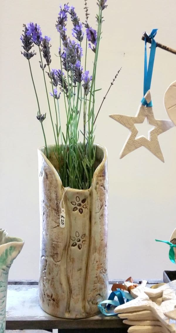 ceramic vase and star decorations