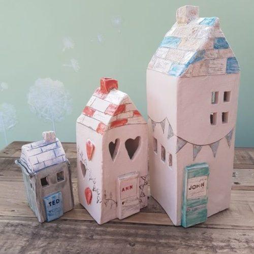 personalised ceramic houses