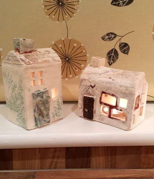 Ceramic Tea Light Houses Ceramic Tea Lights