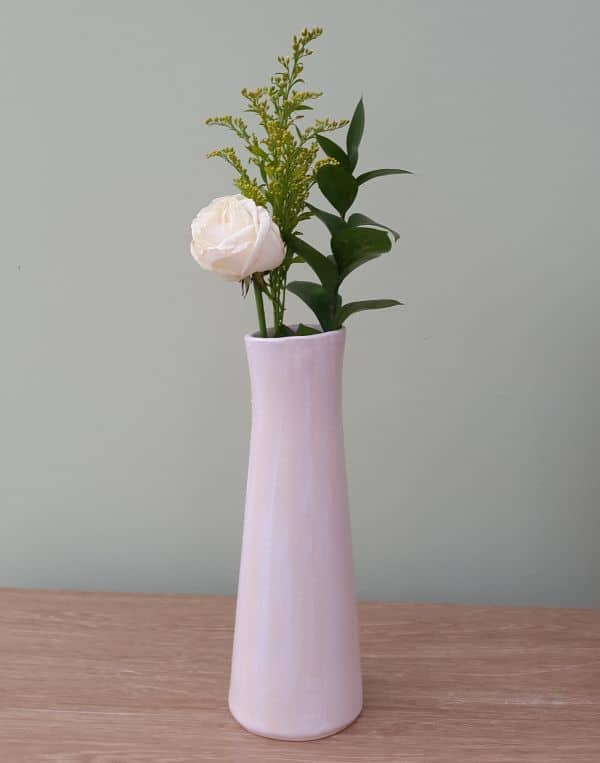 simple white ceramic vase