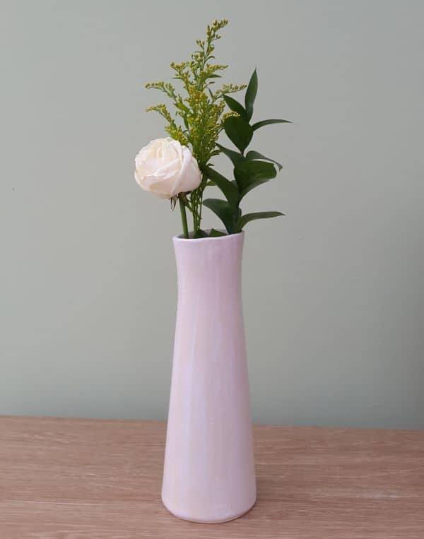 simple white ceramic vase
