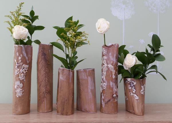 rustic ceramic vases