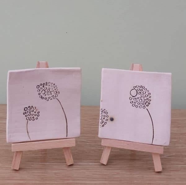 ceramic dandelion tiles