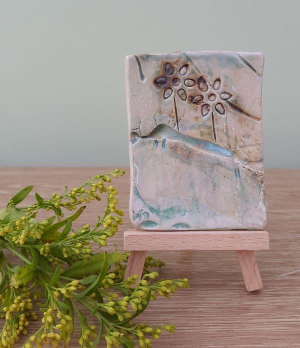 spring flowers ceramic panel