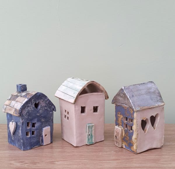 ceramic tea light houses