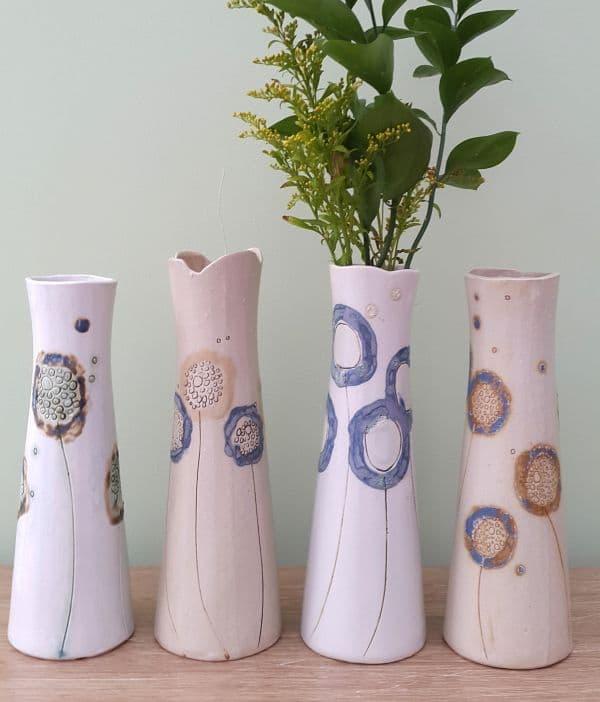 ceramic dandelion vases